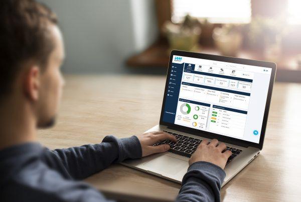 Man using CHOICES online risk management portal on laptop