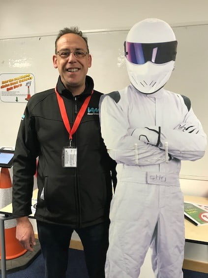 Dan Tyler with Stig