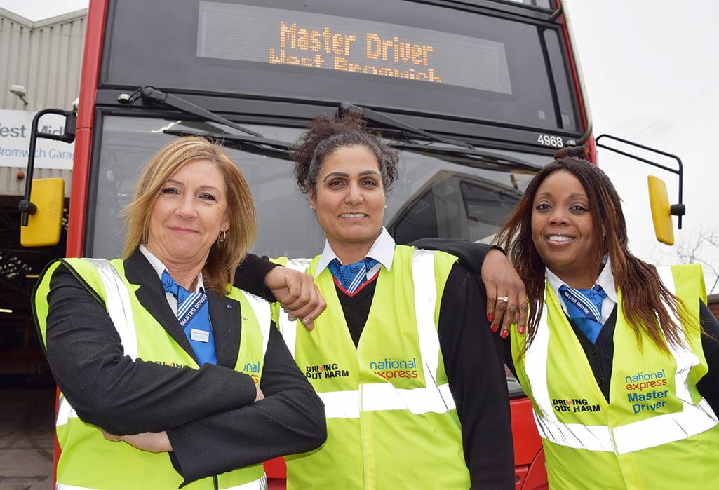 Master Drivers Janice Bahia, Rekha Sehdeva, Diane Reid