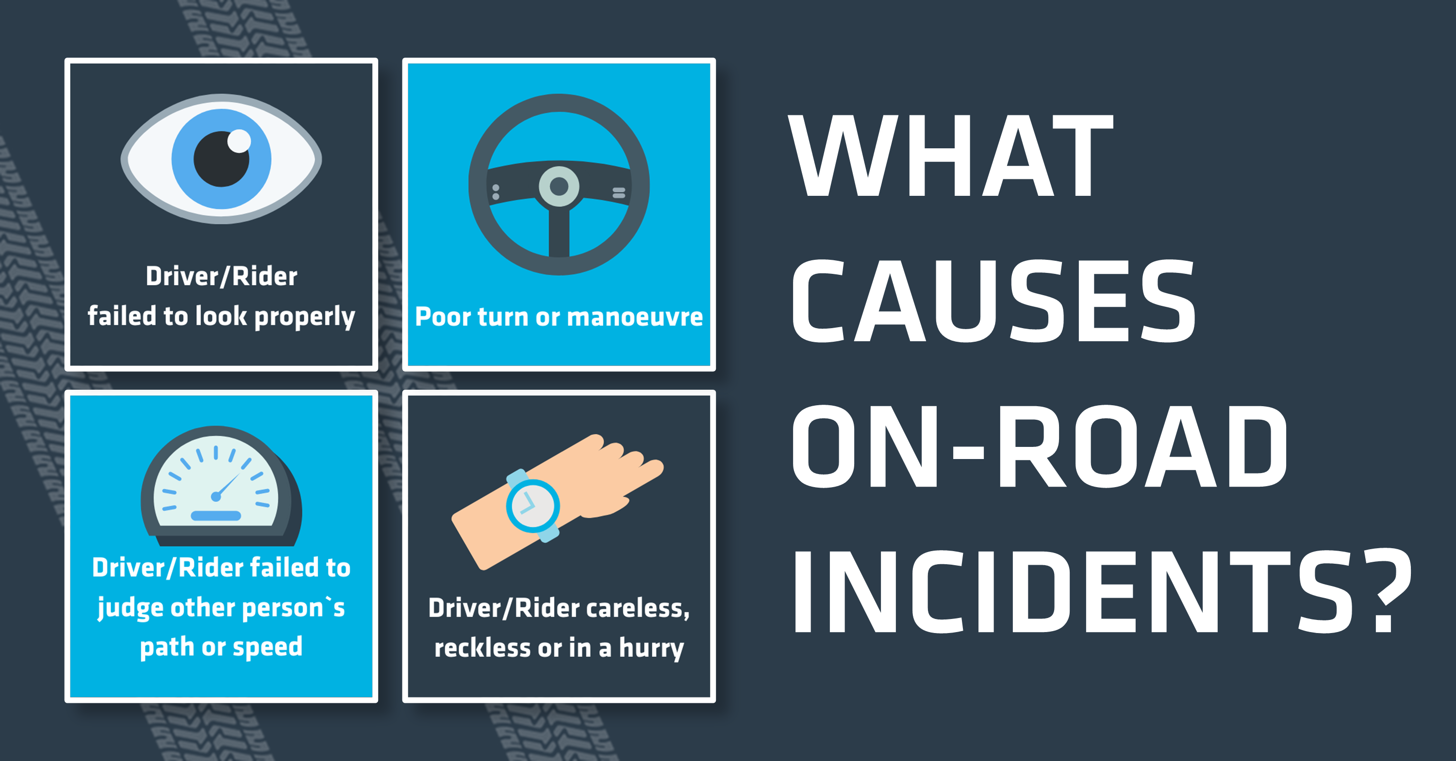 What causes on-road incidents? Here are the most common pairs of contributory factors